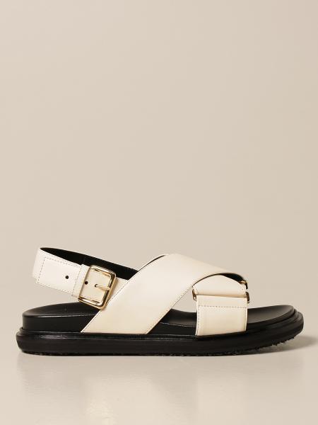 Flache sandalen damen Marni