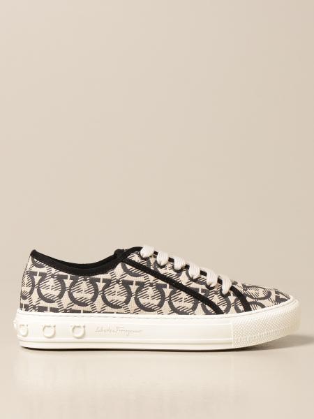 Salvatore Ferragamo Wimbledon sneakers in Gancini fabric