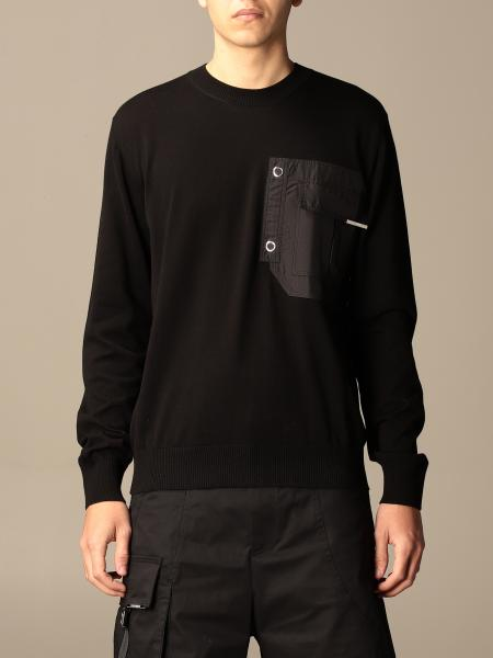 Les Hommes: Les Hommes crewneck sweater in cotton with nylon pocket