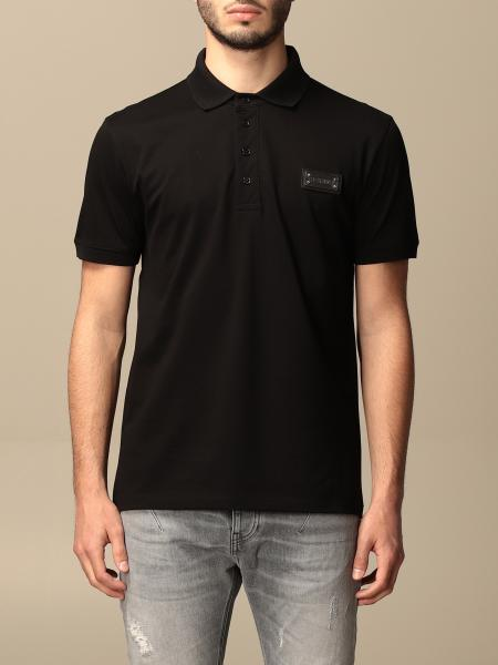 Les Hommes: Les Hommes basic polo shirt in cotton with logo