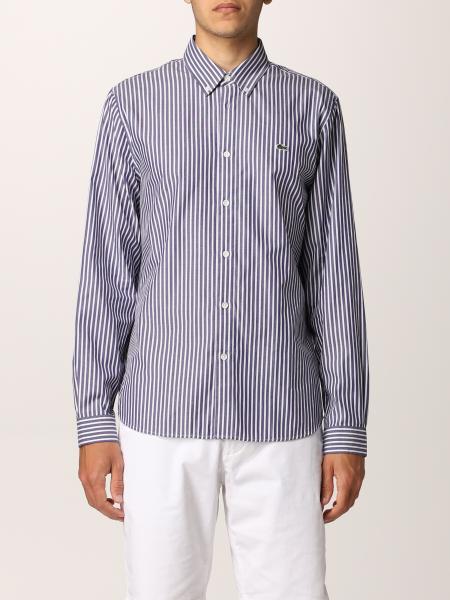 Camicia Lacoste in cotone a righe