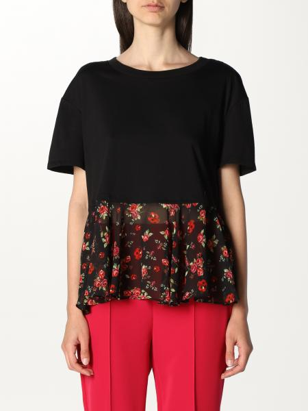Twinset women: Twin-set top with floral flounce