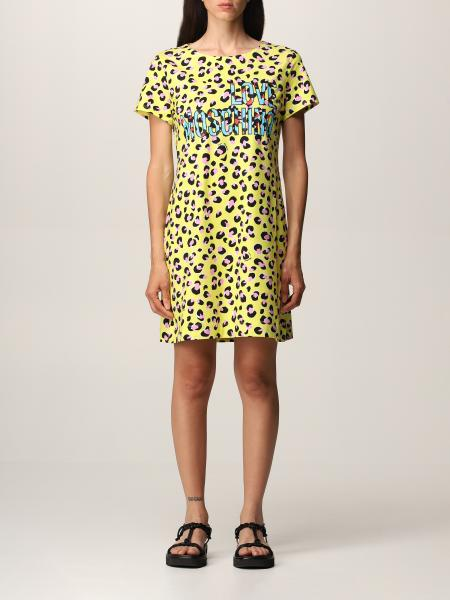 Love Moschino: Love Moschino spotted logo t-shirt dress