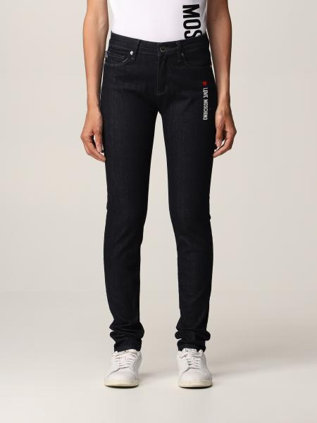 Love Moschino 5-pocket jeans with logo