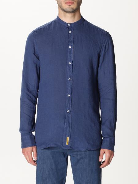 BD Baggies shirt in linen with mandarin collar