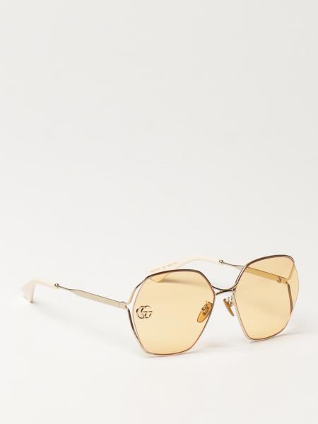 Gucci donna: Occhiali da sole Gucci in metallo