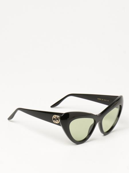Gucci donna: Occhiali da sole cat eye Gucci in acetato