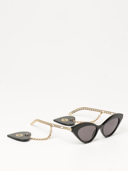 Gucci donna: Occhiali da sole Gucci cat eye con ciondoli a forma di cuore