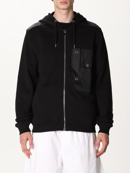 Les Hommes: Les Hommes hooded sweatshirt in cotton