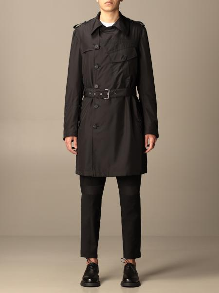 Les Hommes: Les Hommes double-breasted trench coat with belt