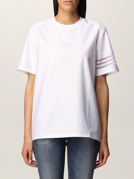 T-shirt Adidas Originals con righe velate