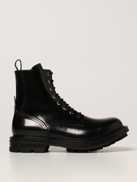 Alexander McQueen ankle boot in brushed leather