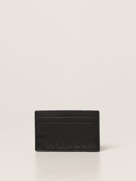 Porta carte di credito Alexander McQueen in pelle