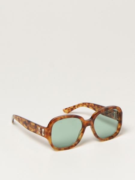 Gucci donna: Occhiali da sole Gucci in acetato tartarugato