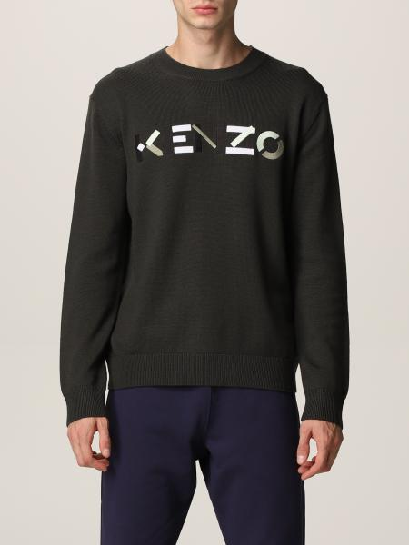 Kenzo uomo: Maglia Kenzo in lana con tigre