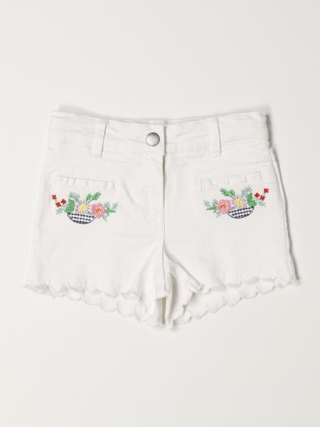 Stella McCartney denim shorts with embroidery
