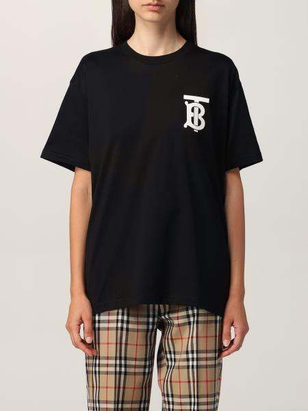 Burberry oversized cotton t-shirt with monogram