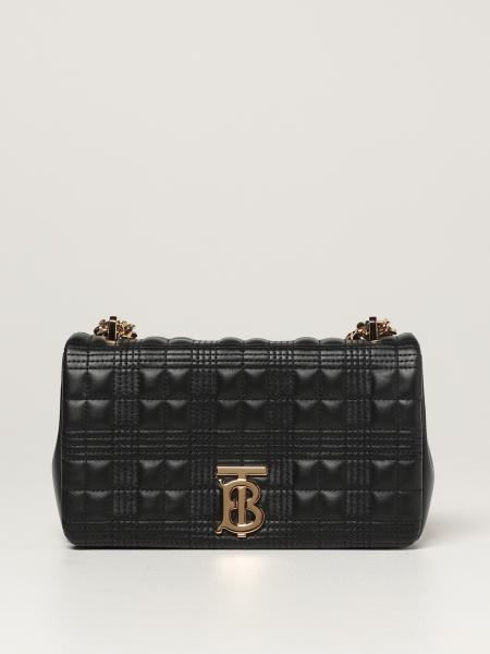 Burberry women: Lola Burberry shoulder bag in quilted leather with TB monogram