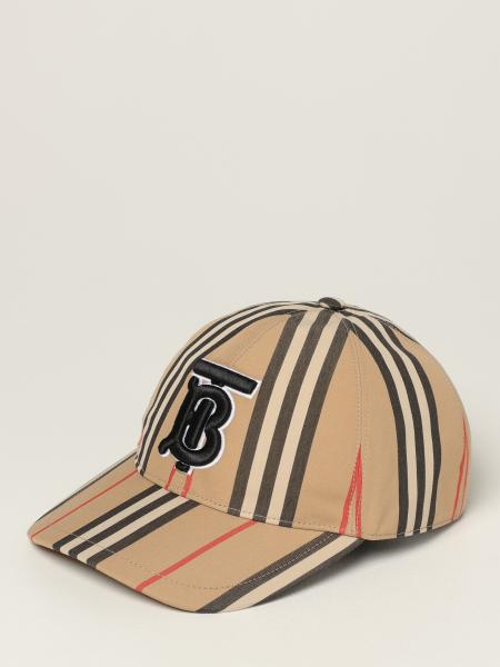 Burberry baseball cap in cotton with striped pattern