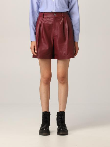 Red Valentino shorts in soft nappa