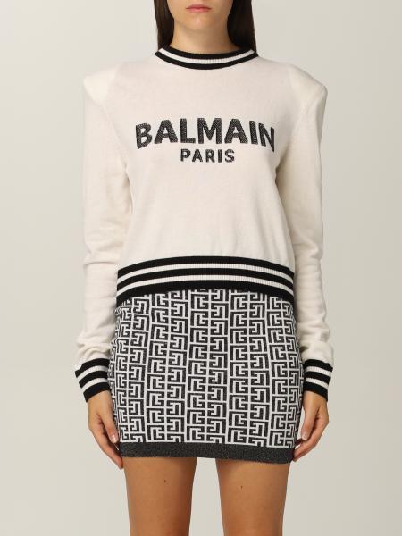 Maglia Balmain in lana e cashmere