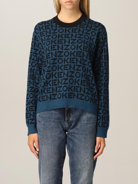 Kenzo donna: Maglia Kenzo in maglia con logo all over