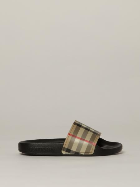 Burberry sandals in check rubber