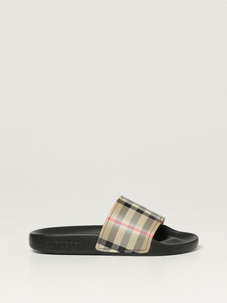 Burberry sandals with check band