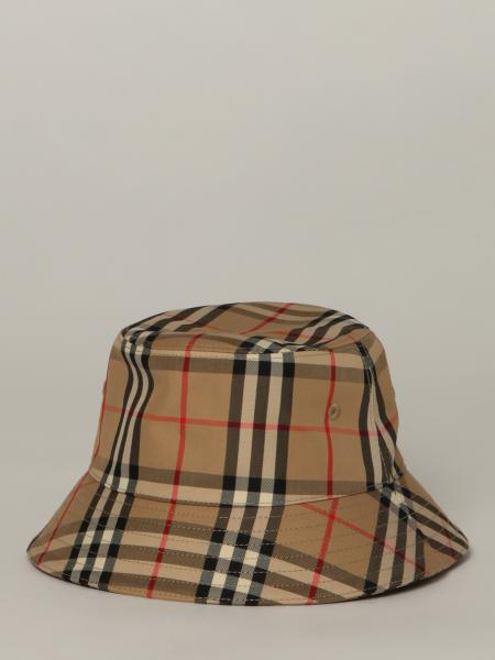 Burberry fisherman's hat in check canvas