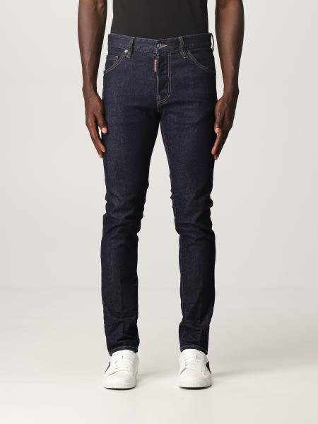 Dsquared2 uomo: Jeans skinny Dsquared2 con logo Icon