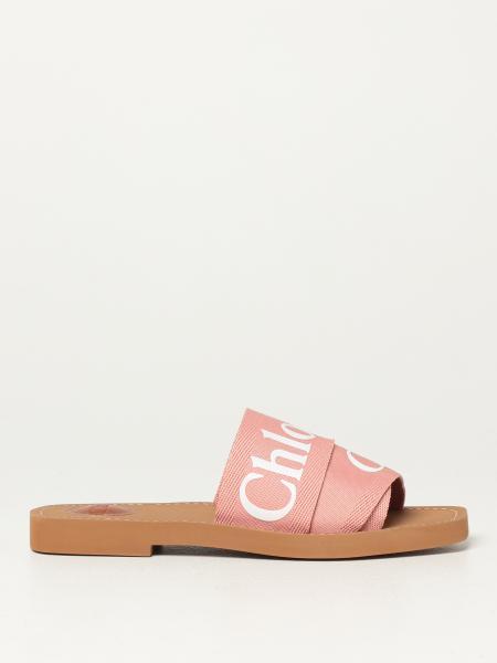 Sandalo flat Chloé in nastro