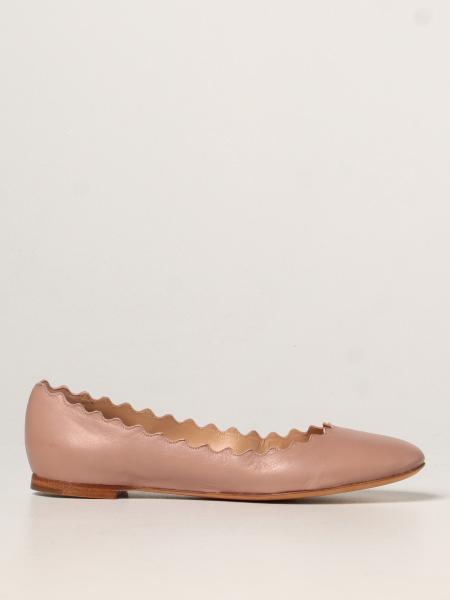 Lauren Chloé ballerina in leather