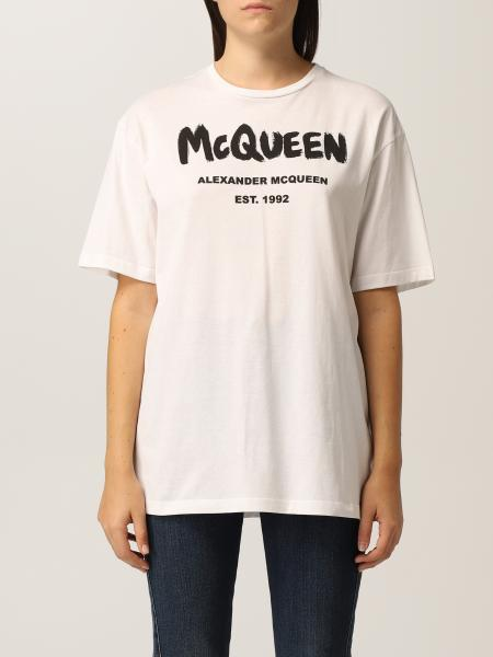 Alexander Mcqueen femme: T-shirt femme Alexander Mcqueen
