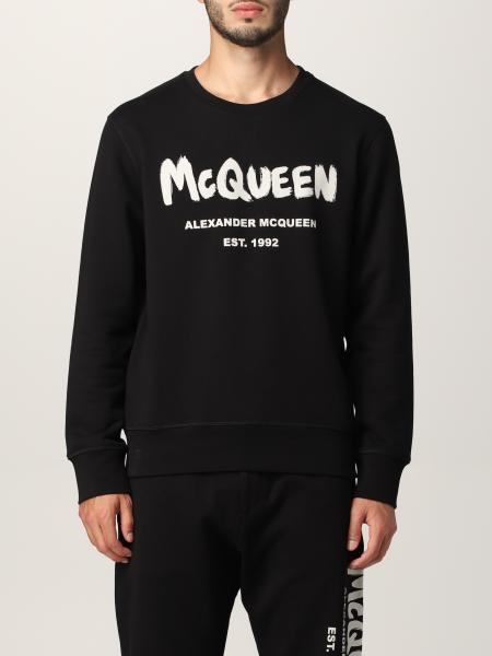Alexander Mcqueen uomo: Felpa Alexander McQueen con stampa logo graffiti
