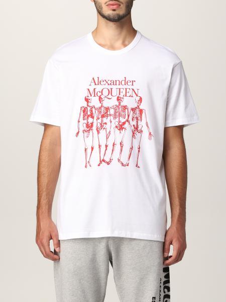 T-shirt Alexander McQueen con stampa scheletro