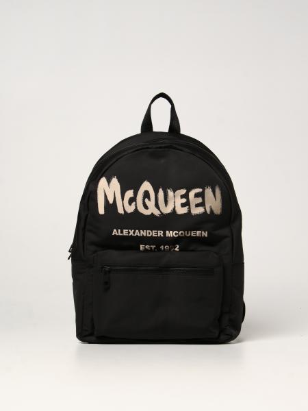 Zaino Metropolitan Alexander McQueen con logo Graffiti