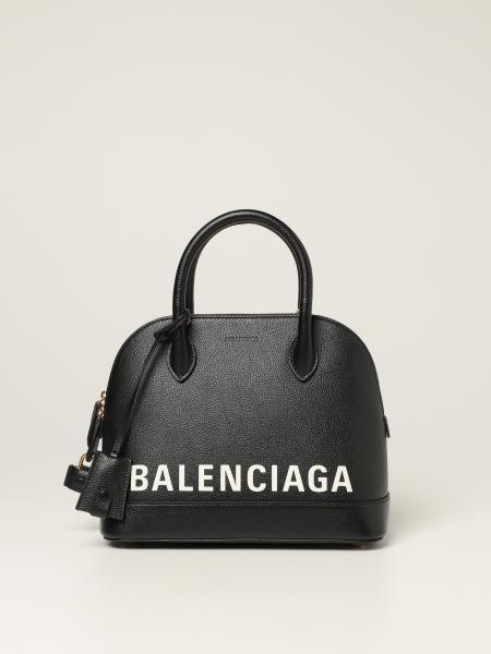 Balenciaga women: Ville S Balenciaga bag in grained leather with logo