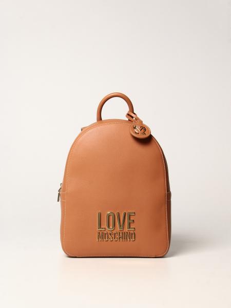 Love Moschino 女士: Love Moschino Logo 双色合成革双肩包