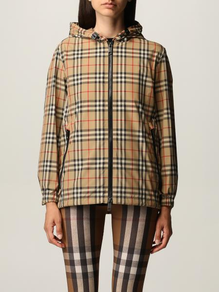 Burberry jacket in recycled polyester with vintage check pattern