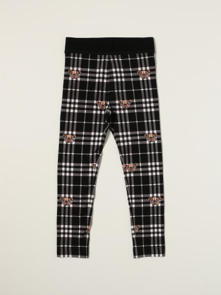 Burberry leggings in stretch cotton with tartan motif and Thomas bears
