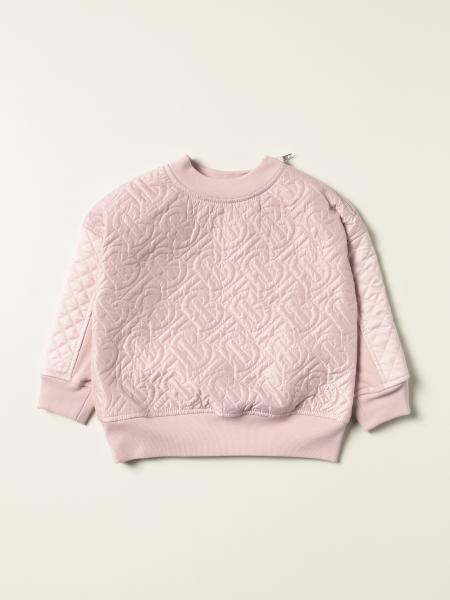 Burberry cotton jumper with quilted panels and monogram
