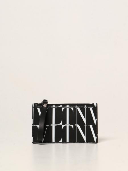 Valentino: Porta carte di credito Valentino Garavani con logo VLTN