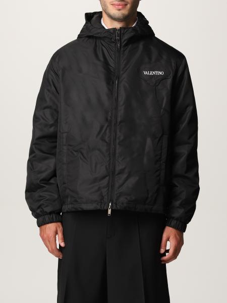 Men's Garden Valentino jacket in nylon with flower