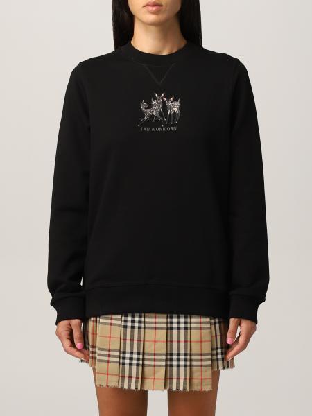 Burberry oversize crewneck sweatshirt in cotton with embroidered deer