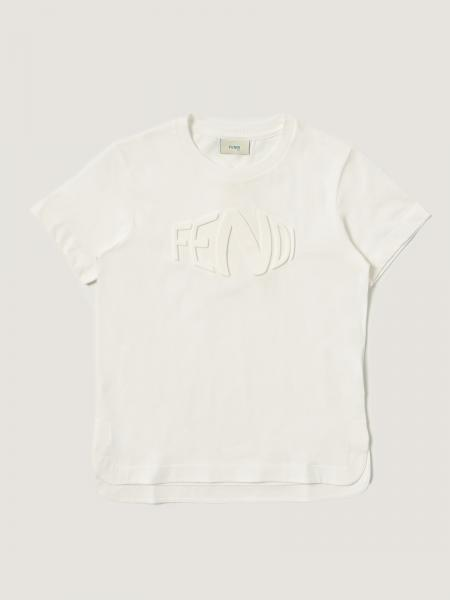 T-shirt basic Fendi in cotone