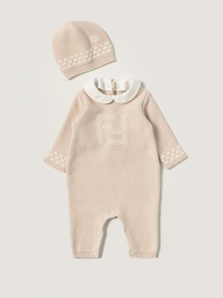 Fendi jumpsuit + hat set in cotton blend