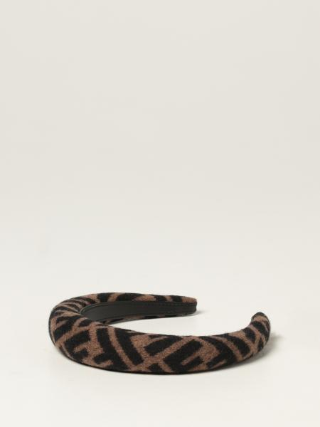 Fendi headband in wool and cashmere with all-over logo