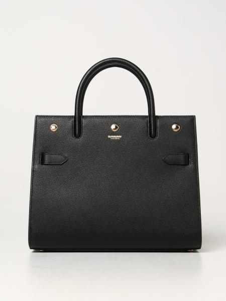 Burberry women: Burberry title bag in grained leather