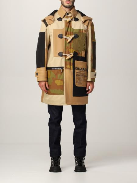 Cappotto Dsquared2 patchwork camouflage