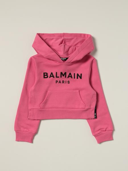 Balmain cropped jumper with logo